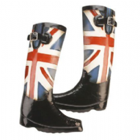 Union Jack Boots Metal Wall Art
